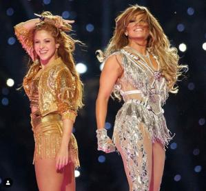 Jennifer Lopez y Shakira en el Super Bowl